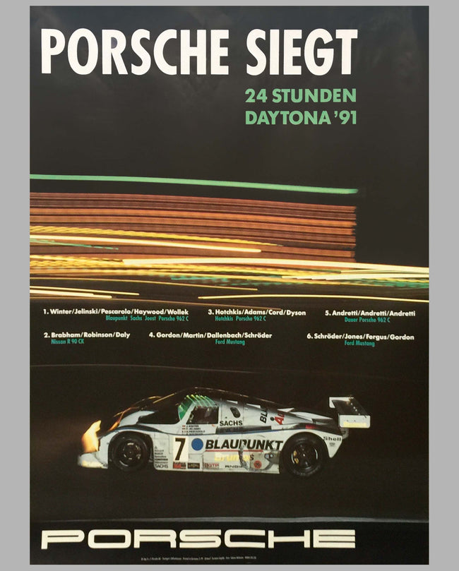 1991 24 Hours of Daytona Victory Poster