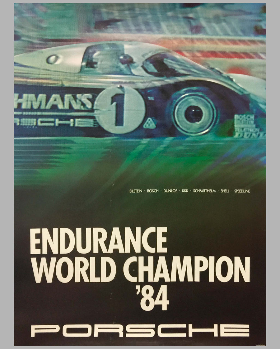 1984 Endurance World Champion Victory Poster