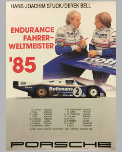 1985 World Endurance Champions Victory Poster