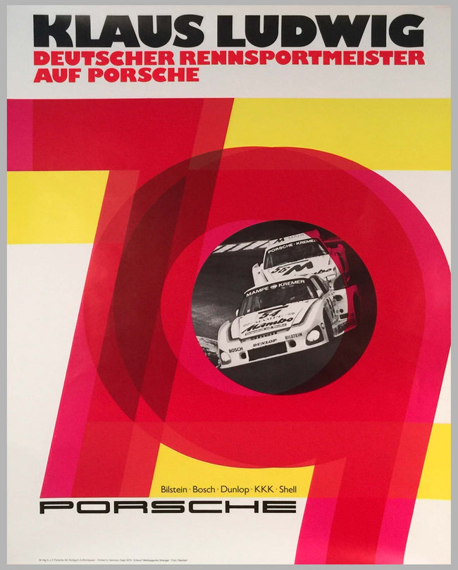 1979 Klaus Ludwig German Sports Car Champion Victory Poster