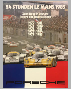 1985 24 Hours of Le Mans Porsche Victory Poster