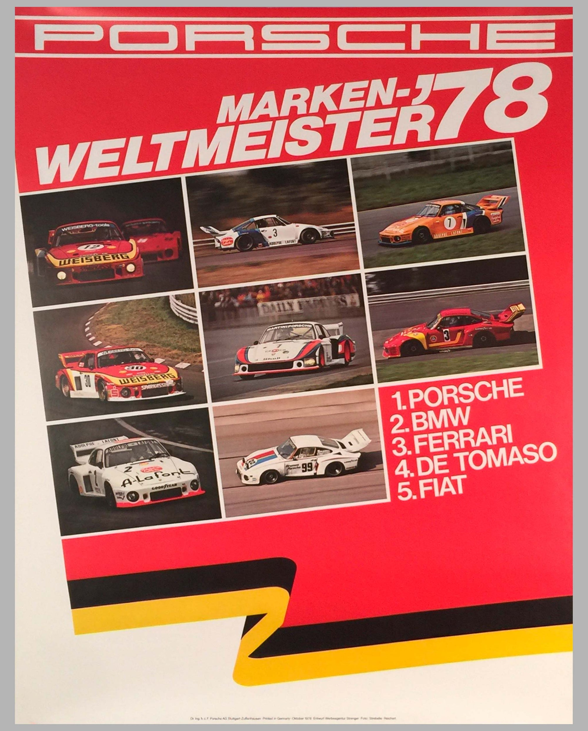 1978 World Champion of Marques Porsche Victory Poster