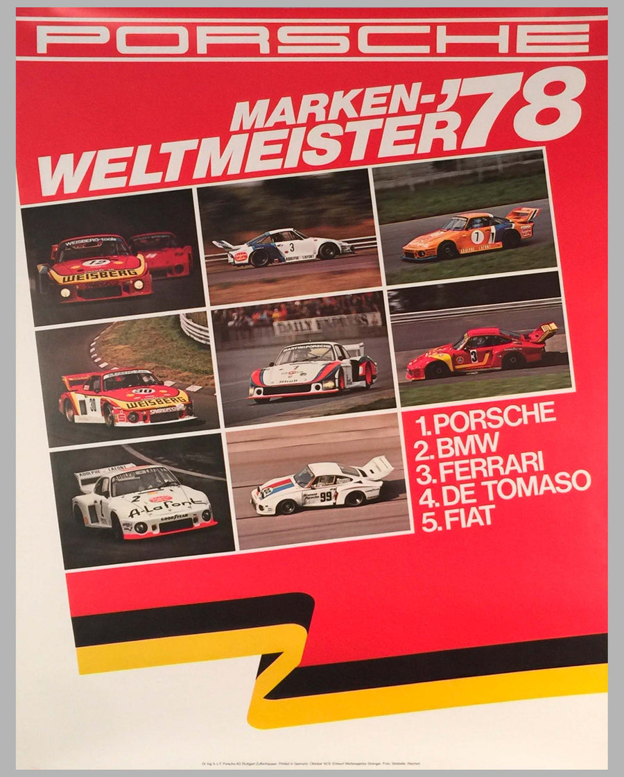1978 World Champion of Marques Victory Poster