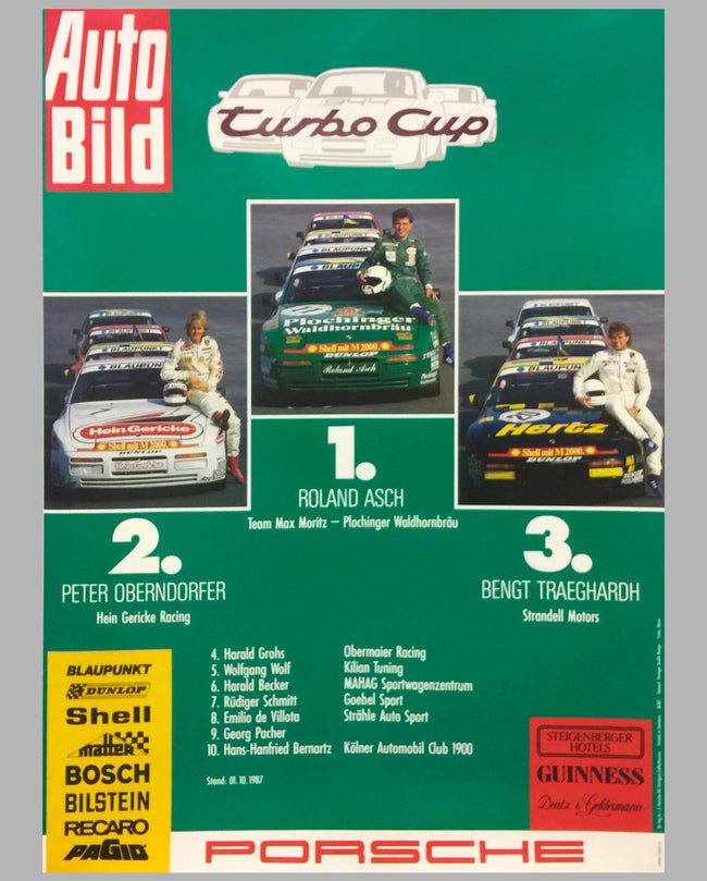 1987 German Porsche 944 Turbo Cup Champions
