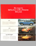 1970 Porsche full line factory sales brochure cover