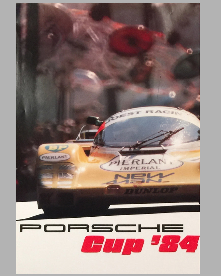 1984 Porsche Cup original victory poster published by the factory
