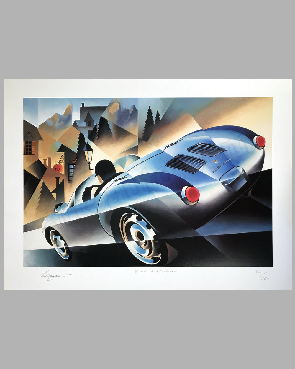 Porsche 550 Spyder at Tremblant print by Alain Lévesque