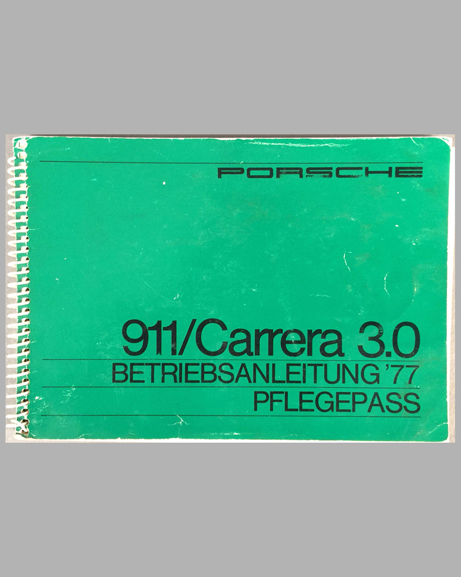 Porsche 911 / Carrera 3.0 1997 factory owners manual and warranty