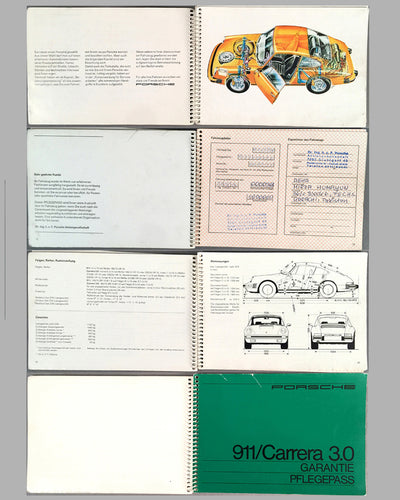 Porsche 911 / Carrera 3.0 1997 factory owners manual and warranty inside