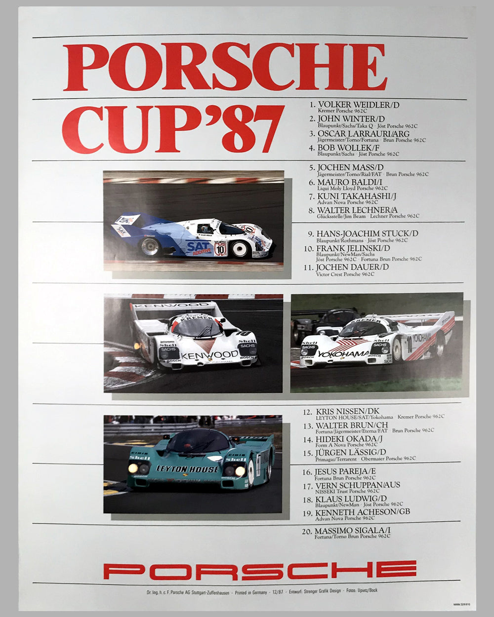 1987 Porsche Cup Victory Poster