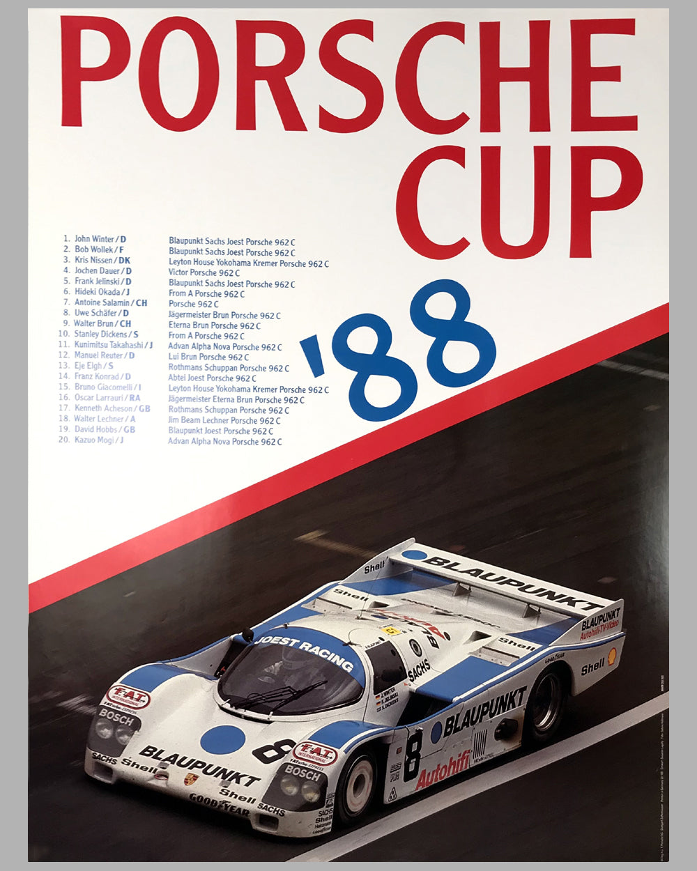 1988 Porsche Cup Victory Poster
