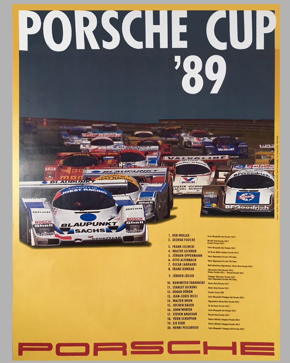 1989 Porsche Cup Victory Poster