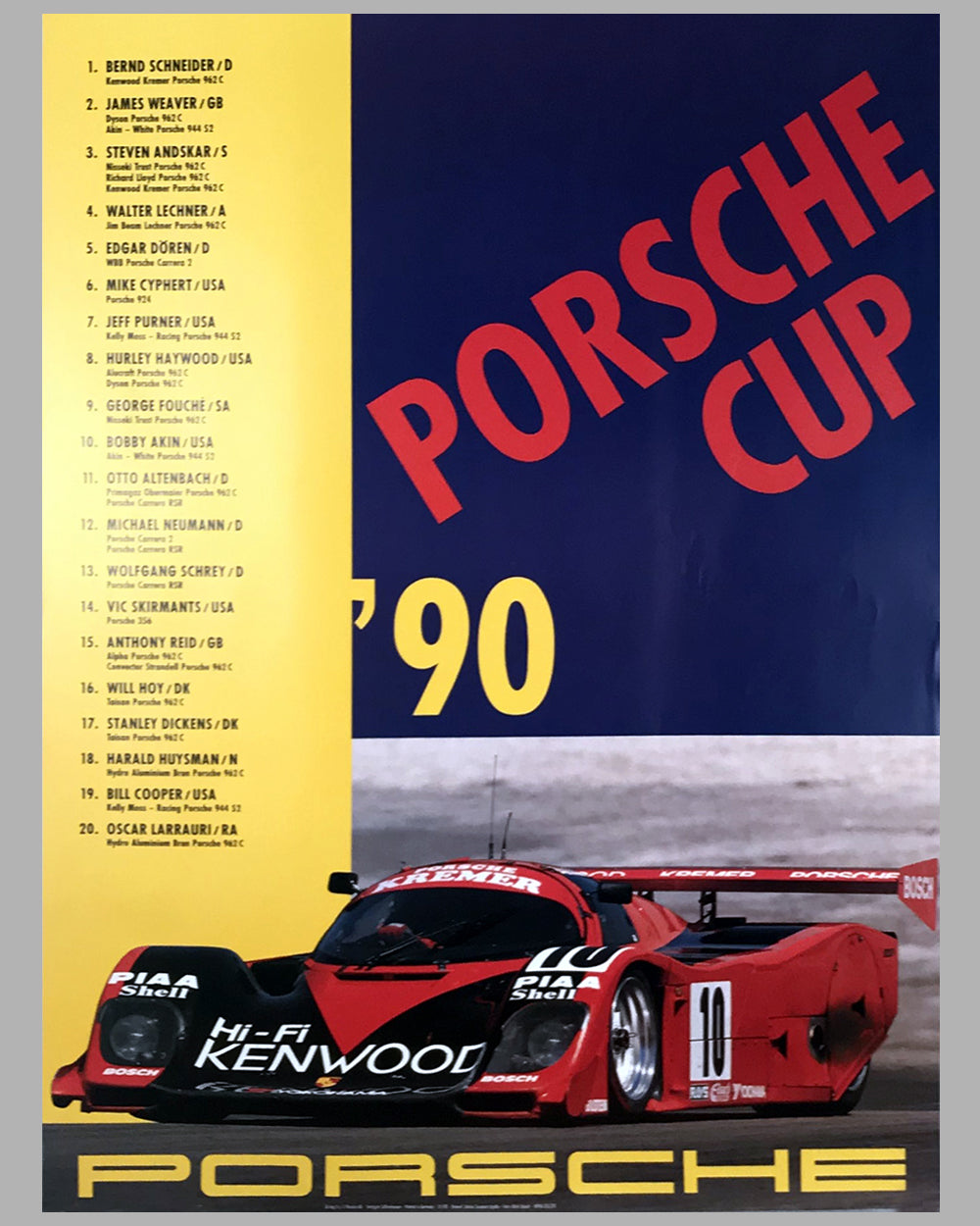 1990 Porsche Cup Victory Poster