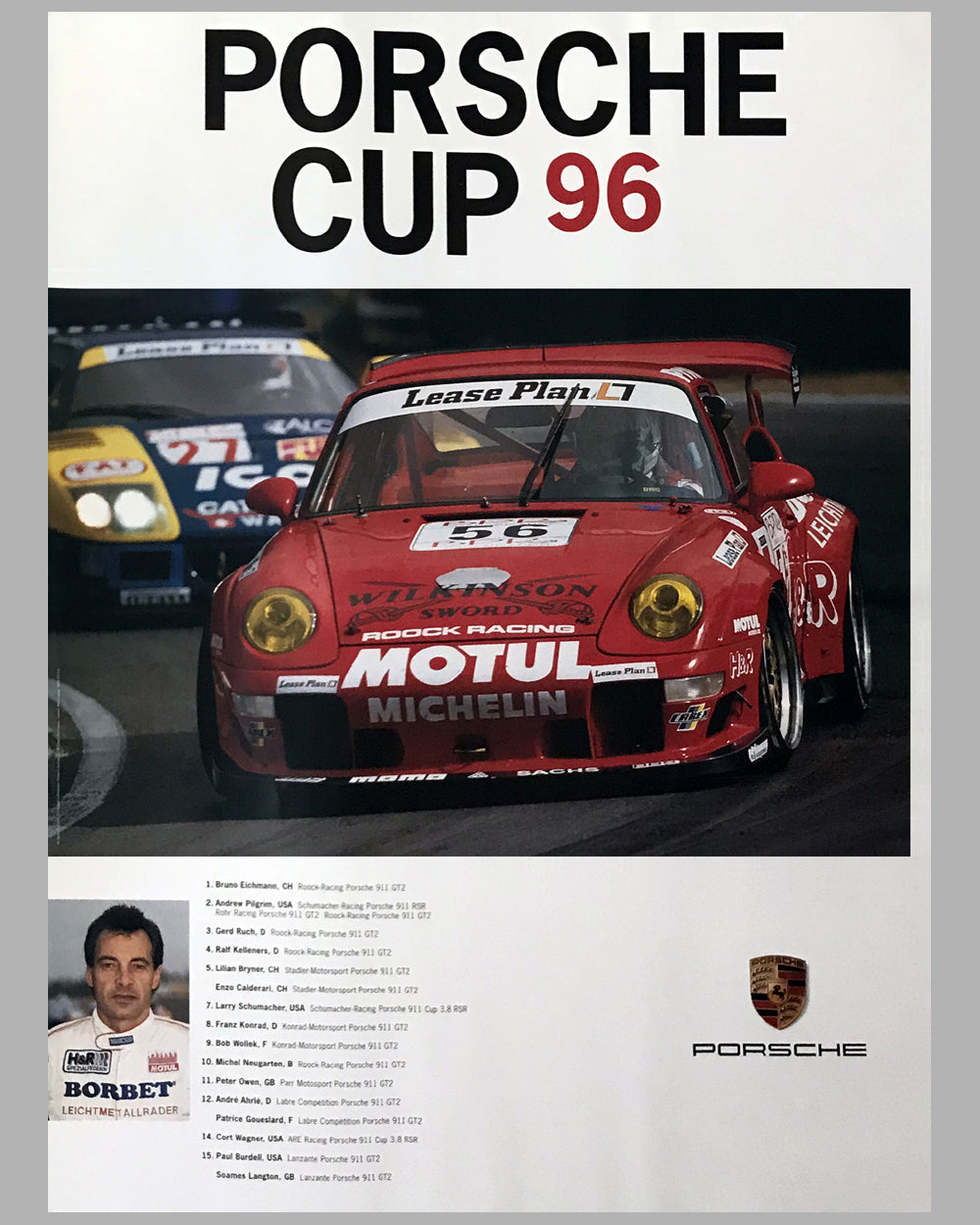1996 Porsche Cup Victory Poster