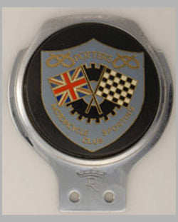 Potter's Motorcycle Sporting Club member's topper badge