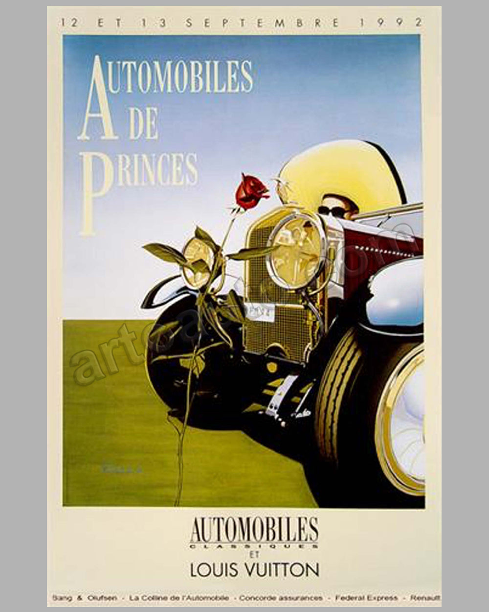 Automobiles de Princes 1992 large poster by Razzia