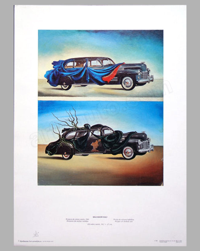 Project of Clothed Cars - 1941 Cadillac print by Salvador Dali
