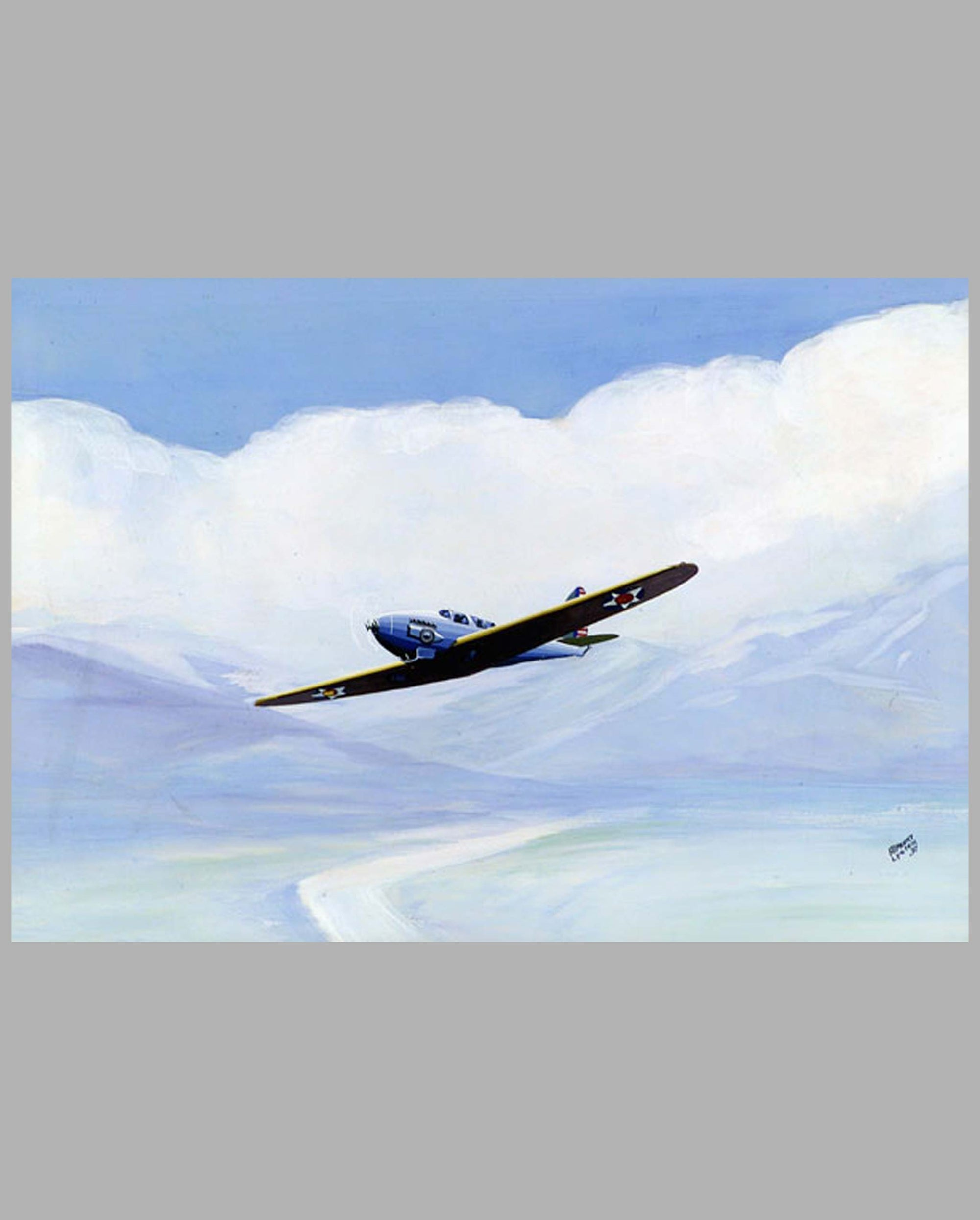 Prototype Pre WWII era American Fighter painting by Alpnarly Lyster