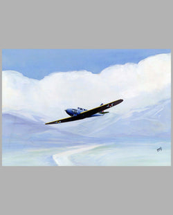 Prototype pre-WWII era American Fighter painting by Alpnarly Lyster