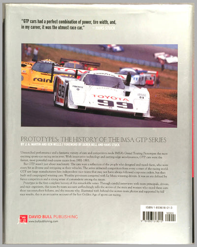 Prototypes - The History of IMSA GTP book by Martin and Wells back