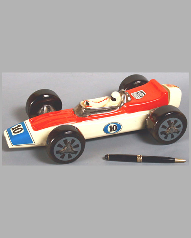 Race Car Ceramic Decanter by Heritage China for Ezra Brooks, 1970