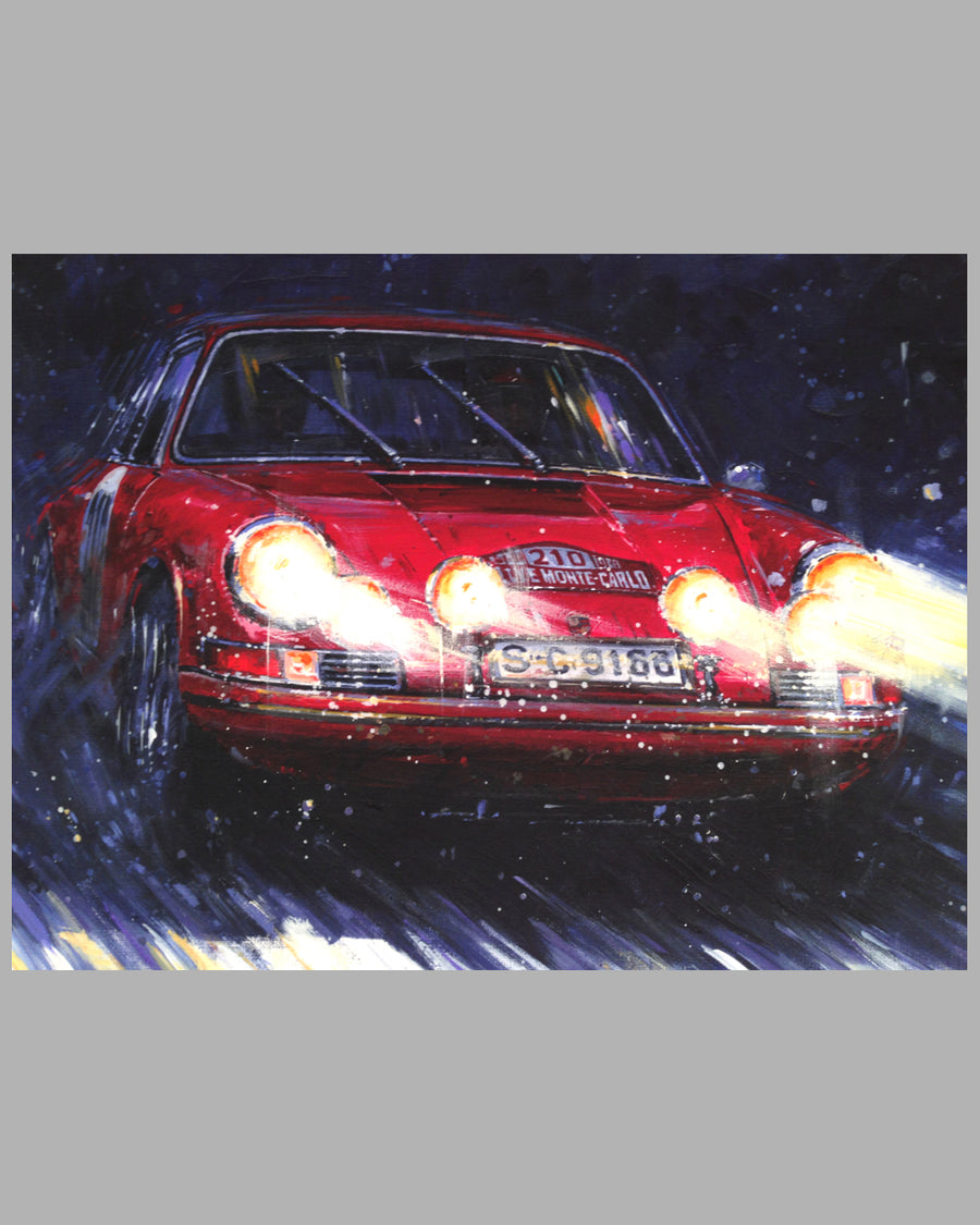Porsche Victory – Rallye of Monte Carlo giclee on paper by Nicholas Watts 2