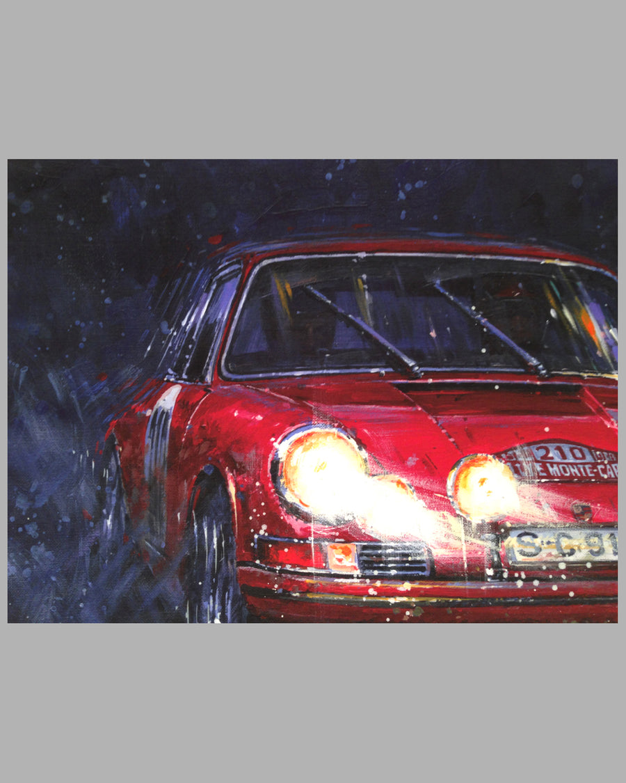 Porsche Victory – Rallye of Monte Carlo giclee on paper by Nicholas Watts 3