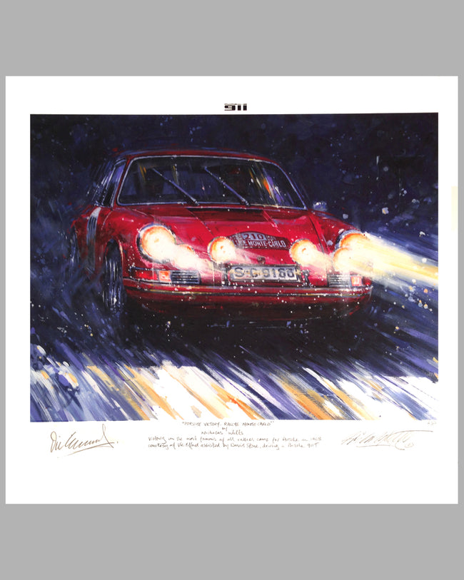Porsche Victory – Rallye of Monte Carlo giclee on paper by Nicholas Watts