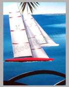 Louis Vuitton Trophy - Nice Cote d'Azur 2009 large poster by Razzia