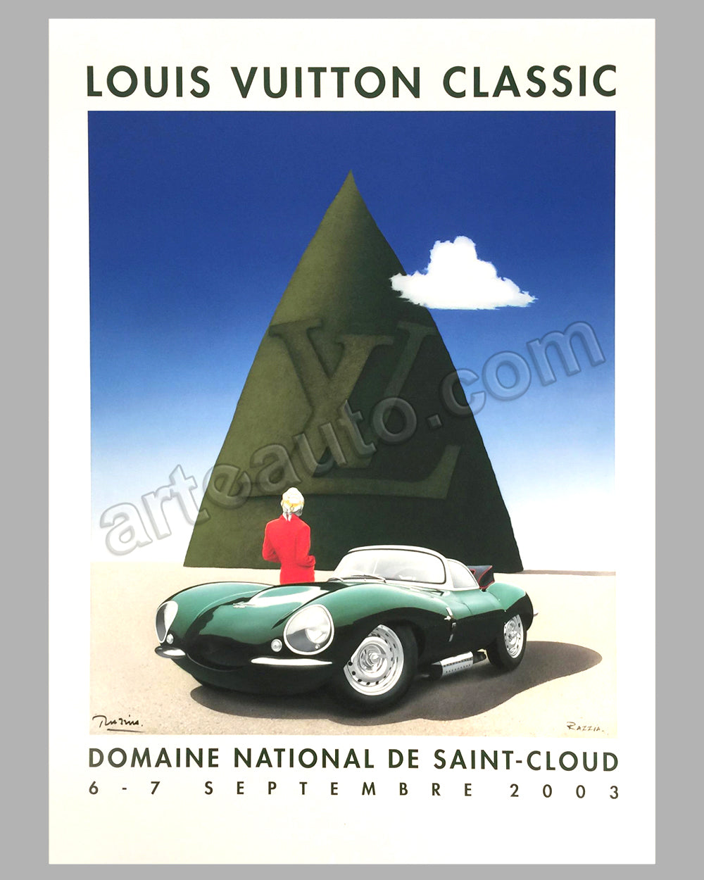 "Louis Vuitton Classic Concours d'Elegance St Cloud 2003 poster by Razzia<br><span style=""color: #ff0000;"">TEMPORARILY OUT OF STOCK</span>"