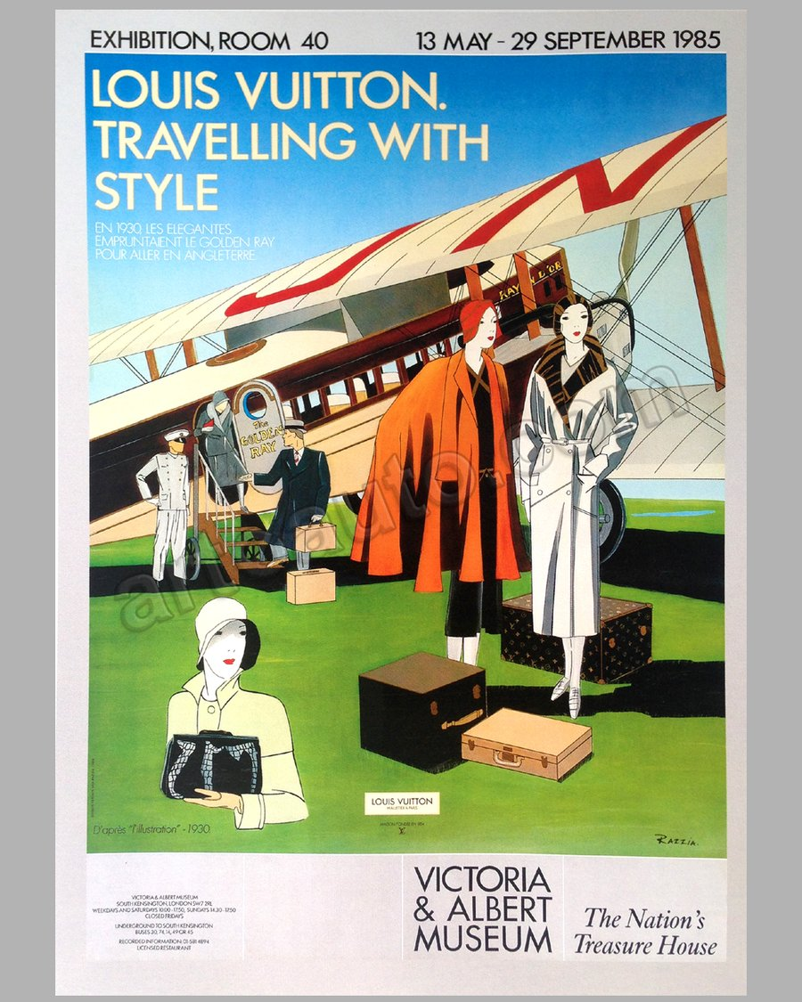 Louis Vuitton Traveling with Style exhibition at the Victor & Albert Museum large poster by Razzia