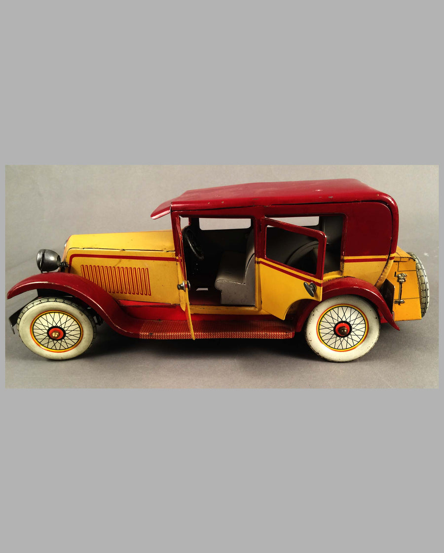 Renault Limousine tin toy by J.E.P. France, Left Side