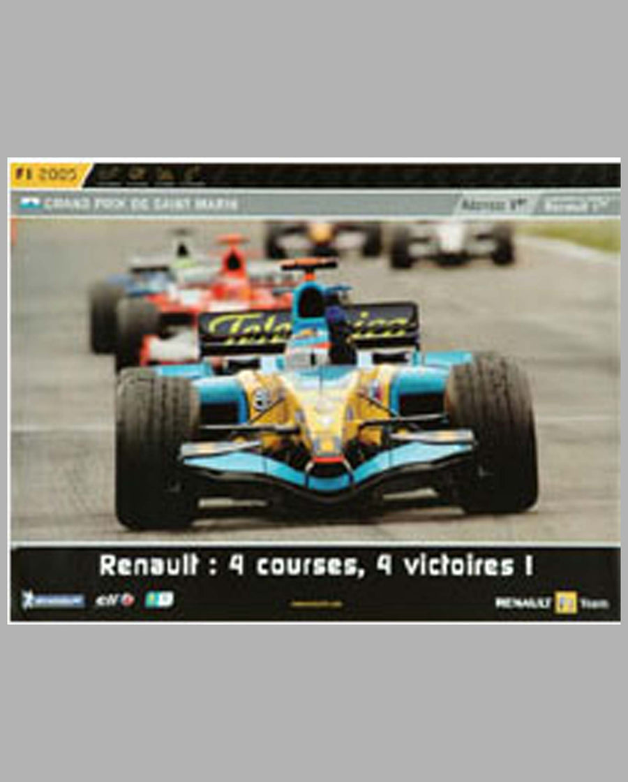 "Renault victory poster ""4 Courses, 4 Victoires"""