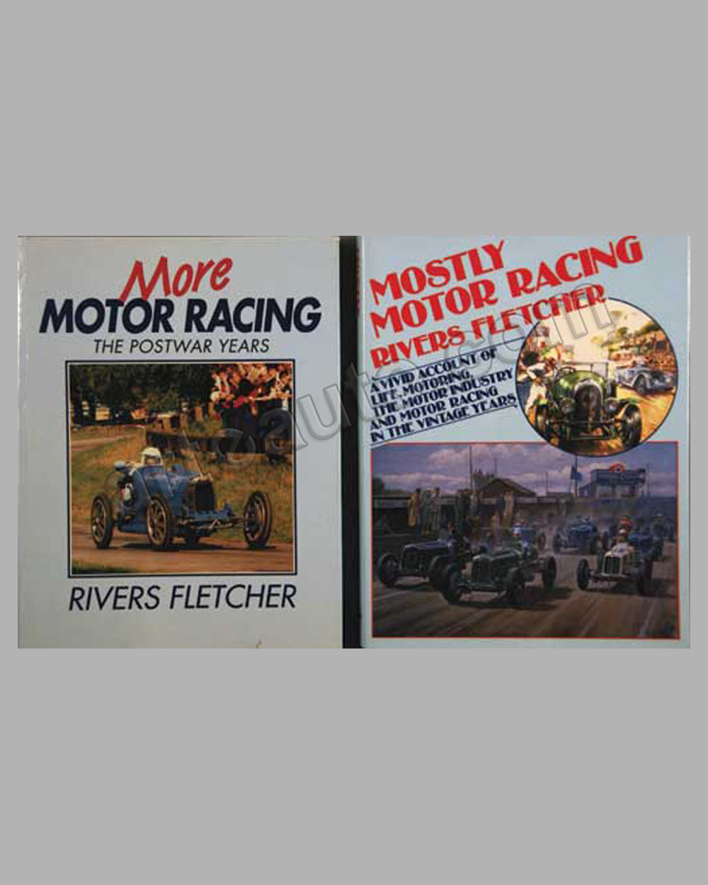 Motor Racing books by R. Fletcher - lot of 2