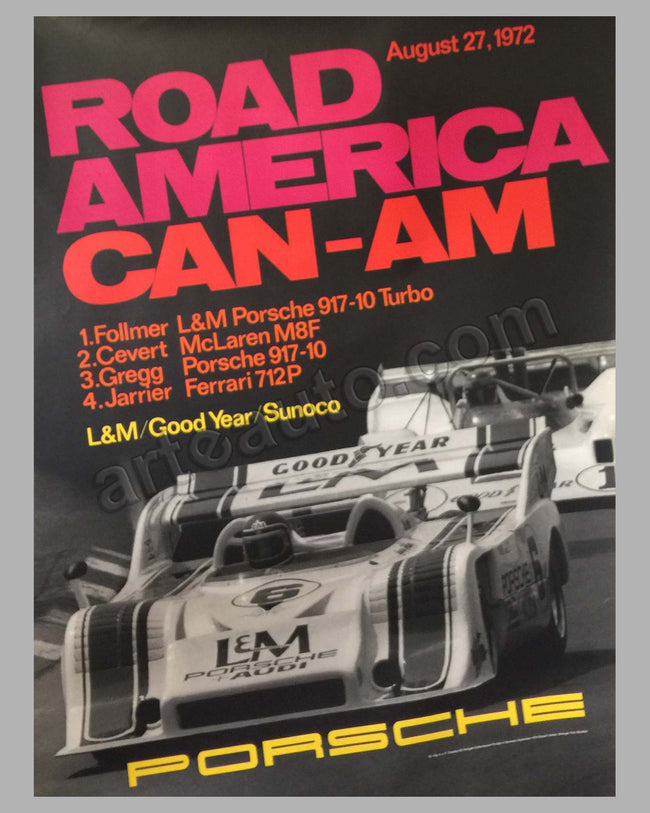 Road America Can Am 1972 victory poster
