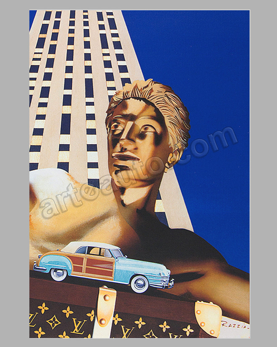Louis Vuitton Classic at Rockefeller Center 1996 large poster by Razzia
