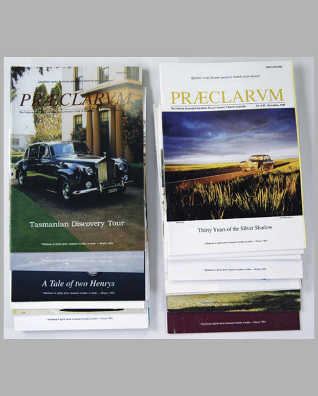 Rolls-Royce Owners Club-Australia publications
