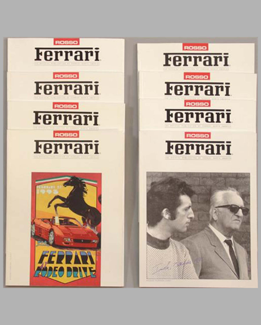 Eight issues of Rosso Ferrari, volumes 1-8, 1990-1993