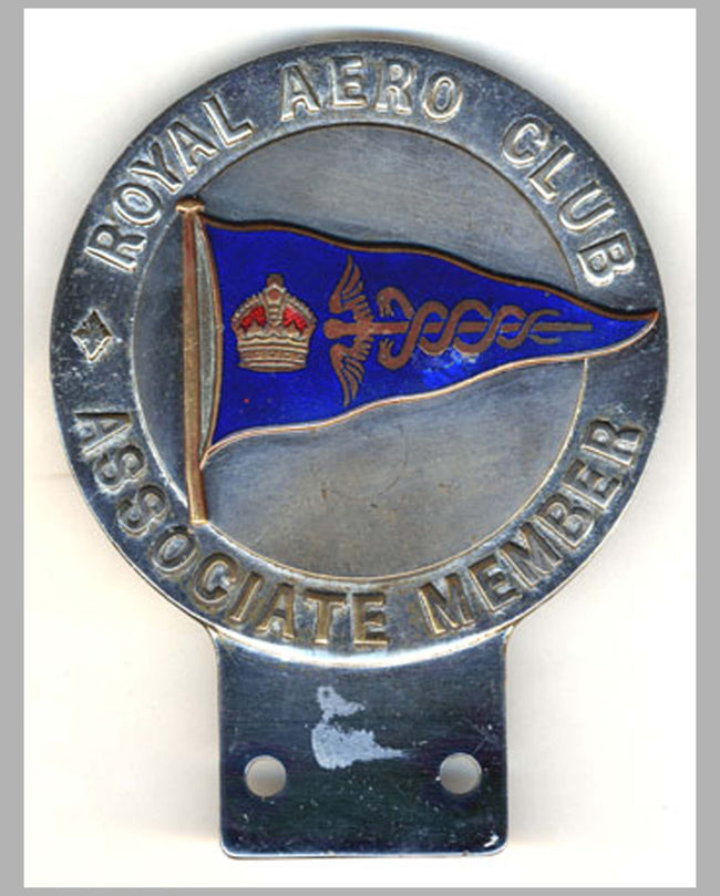 Royal Aero Club grill badge