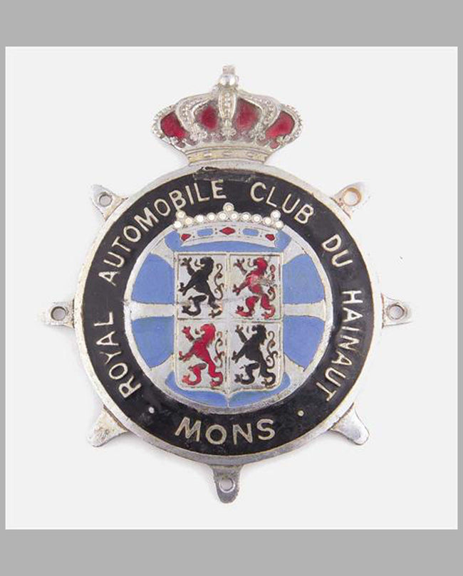 Royal Automobile Club du Hainaut-Snow badge, Belgium