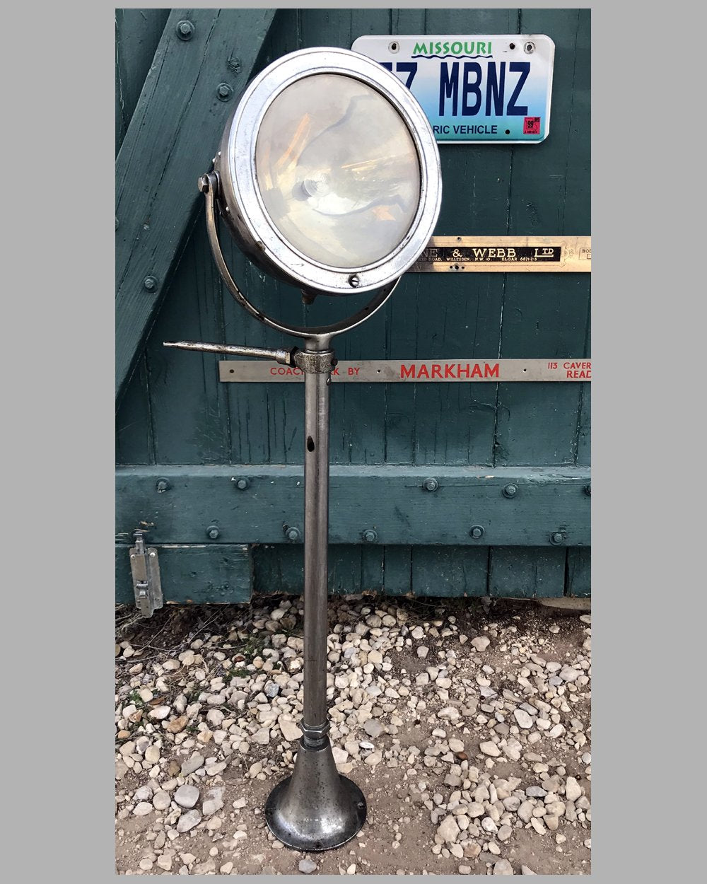 Running board side mounted automobile lamp by AGA, U.S.