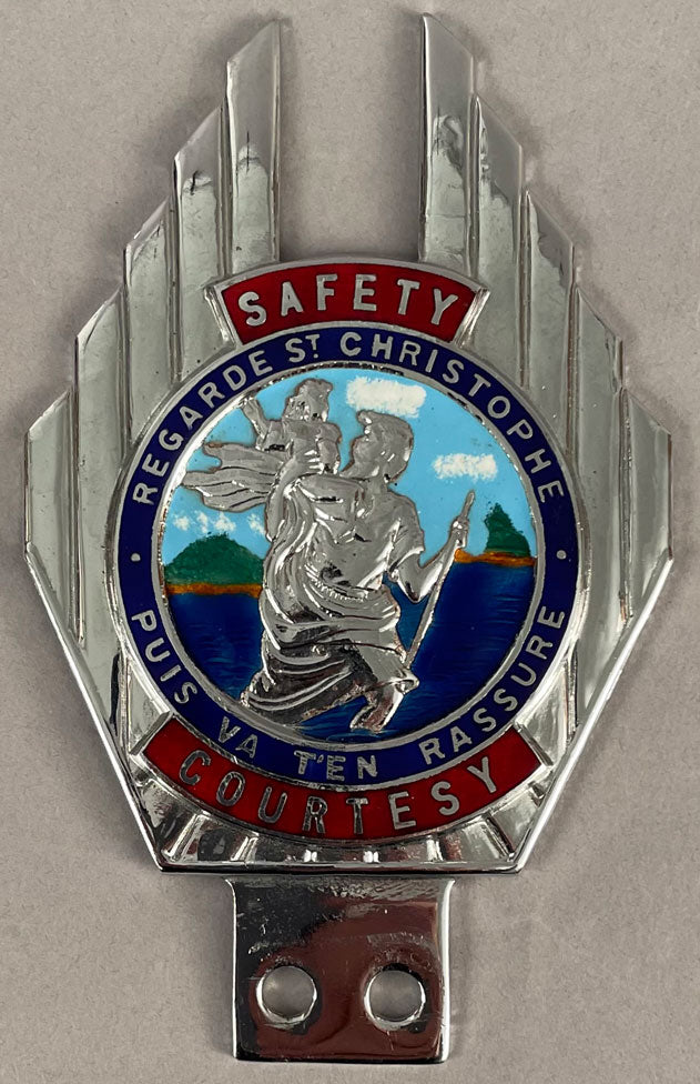 Saint Christopher bumper/bar badge