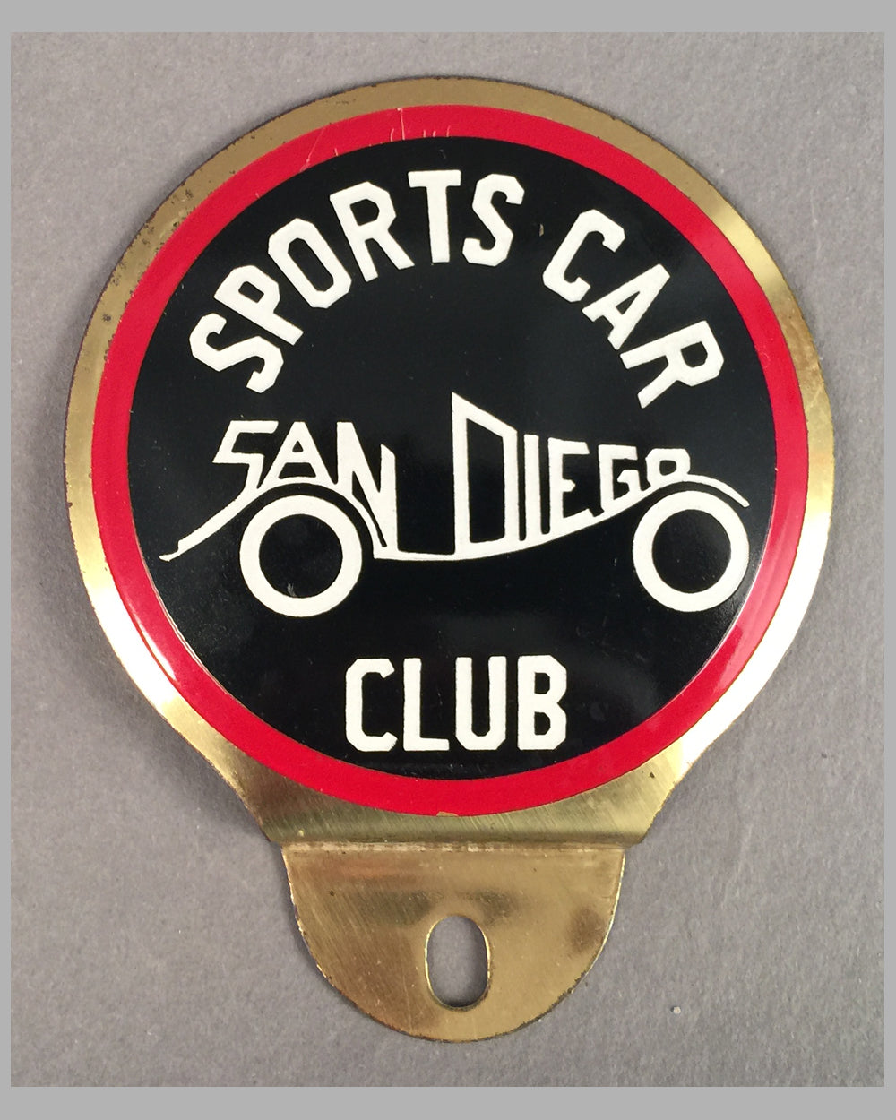 Sports Car Club of San Diego collectible badge