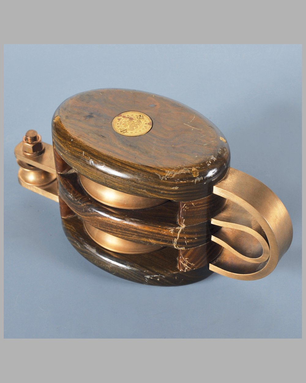 1920's Schooner double pulley block