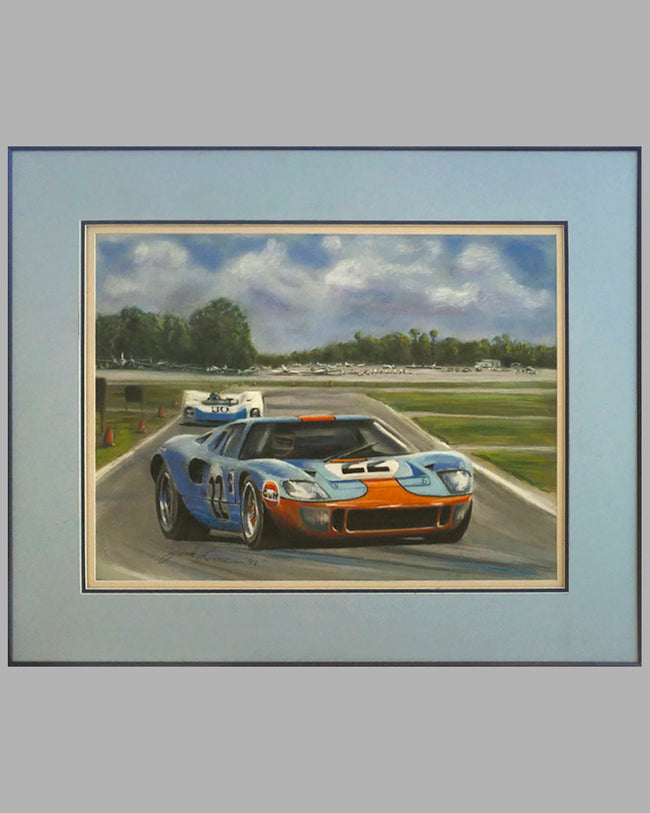 1969 12 Hours of Sebring painting by Jack Lane