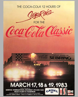 12 Hours of Sebring 1983 original advertising Poster