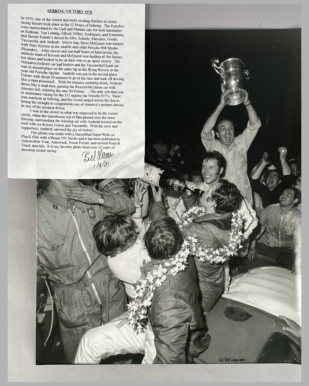 12 Hours of Sebring 1970 victory lane photograph by Bill Warner