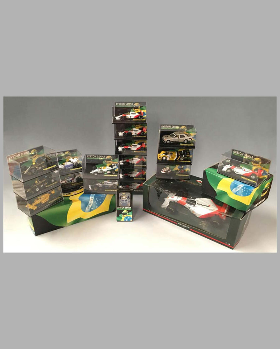 Collection of 20 models of different Ayrton Senna race cars Lot of 20