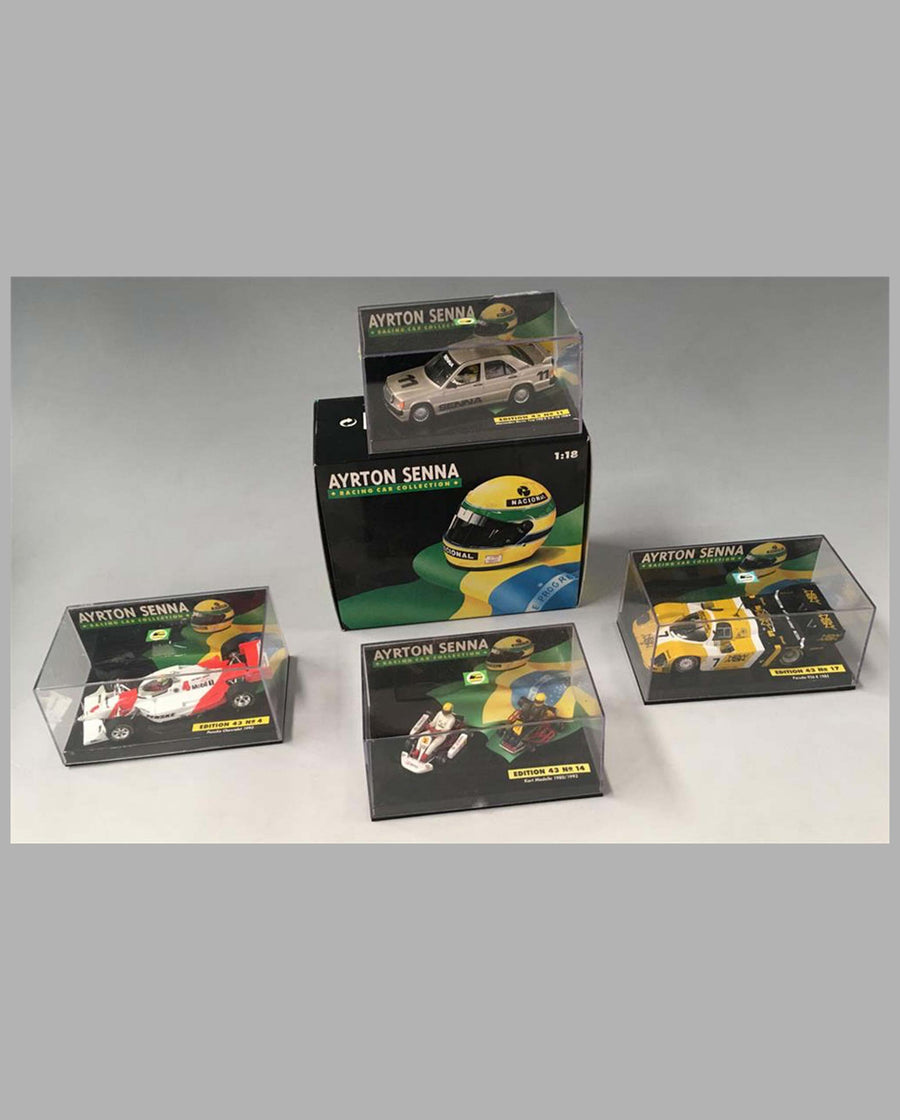 Collection of 20 models of different Ayrton Senna race cars, miscellaneous