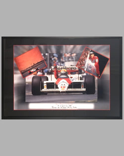 Ayrton Senna winning the Grand Prix of Canada 1988, photo montage by Fernando Gomez